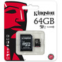 Memoria Micro Sd 64 Gb Kingston Class 10 Sellada Gtia 1 Año!