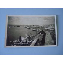 Cartão Postal Antigo - P / B - Recife - Porto E Bairro