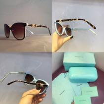 Óculos De Sol Feminino Tiffany Co Acetato Coleção Nova