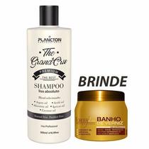 Plancton Shampoo Que Alisa Liso Absoluto 500ml + Banho250g