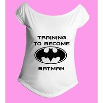 Camiseta Treinando Para Virar O Batman Gola Canoa 01