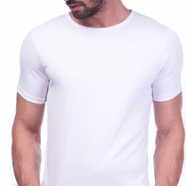 Camiseta Branca Básica 100% Algodão Fio 30.1 Direto Fábrica