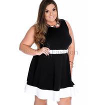 Vestido Curto Plus Size Saia Rodada Vestido Festa Ou Casuais