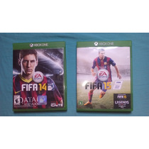 Lote Xbox One Fifa 14 E Fifa 15 Midia Fisica