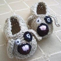 Zapatos De Perrito Tejidos Crochet