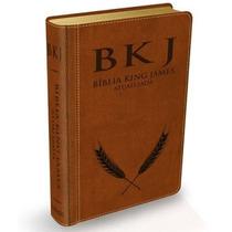 Biblia King James Atualizada Bkj - Capa Luxo Marrom + Indice