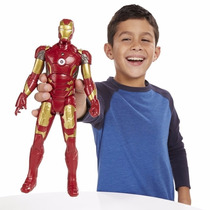 Boneco Articulável Avengers Homen De Ferro C/som,luz E 30cm