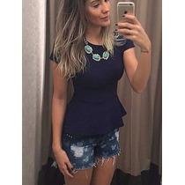 Peplum Bandagem Blusinha Feminina Compre 2 Ganhe 5 Bare Lift
