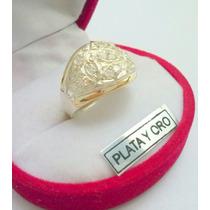 Anillo De Plata Y Oro Con Cubic Muy Delicado!!