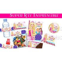 Barbie Escuela De Princesas Super Kit Imprimible! Bfn