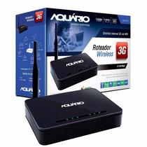 Roteador 3g Aquario Ap3g-2410 Ate 150mbps Com 4 Portas Lan