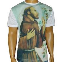 Camiseta São Francisco De Assis Artigos Católicos P M G Gg