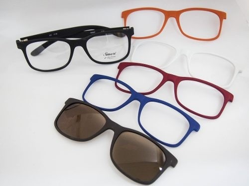 3740d32e3ffaa Armação Óculos Clip-on P  Grau Smart Ref.933 - R  198