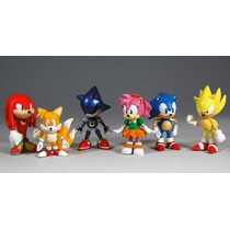 Coleção Action Figure Sonic - Com 6 Bonecos Pronta Entrega