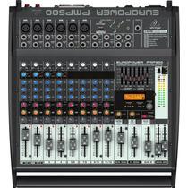 Mesa De Som Behringer Pmp500 Mixer Amplificado