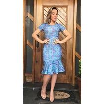 Vestido Babado Midi Moda Evangélica Secretaria Executiva