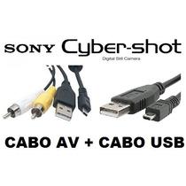 Cabo Av + Usb De Dados Camera Sony Cyber Shot S W Alpha