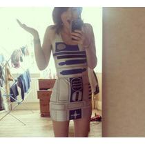 Vestido R2d2 Star Wars Cosplay Fantasia Halloween