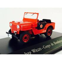 Miniatura De Jeep Willys Corpo De Bombeiros 1:43 Ixo