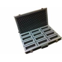 Case P/ 12 Microfones Shure Akg Sennheiser Leson Behringer