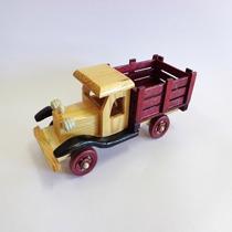 Miniatura Caminhão Antigo Madeira Colecionador Vintage Stilo