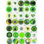 10 Botons Botton Broches 2,5 Bandeira Do Brasil - Br