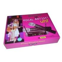Microfone Sem Fio Uhf Profissional Duplo Dj Musicos Karaoke