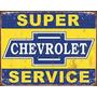 Poster Metalico Litografia Lamina Decorativa Chevrolet Servi