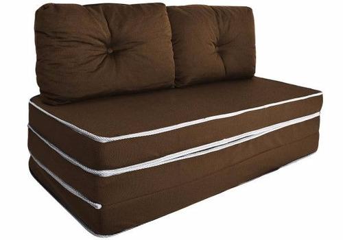 Puff ou sof ou colch o 3 x 1 com travesseiro casal for Sofa que vira beliche