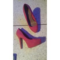 Zapatos Rosados Altos / Tacon / Plataforma Bershka