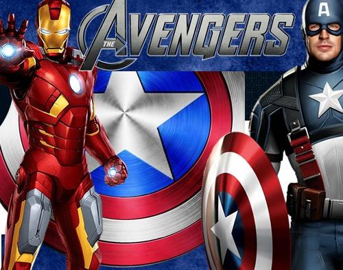 Capitan Marvel Y Los Falsos Vengadores Todo Lo Que: Kit Imprimible Los Vengadores Avengers Diseñá Tarjetas Y