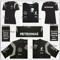 Playera Dama Mercedes Amg Petronas F1 Hamilton Blusa 2016