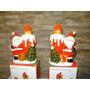 Velas Navideñas De Ceramica Santini Christmas