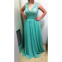 Vestido De Festa Azul Royal/casamento/madrinha/15 Anos