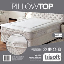 Pillow Top Para Colchões Queen Size Fibras Petfom - Trisoft