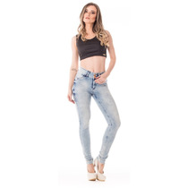 Calça Jeans Feminina Up Fit Alta Skinny - Stone