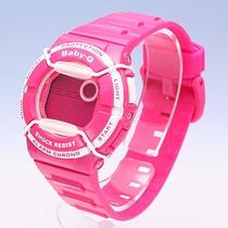 Relógio Casio Feminino Baby-g Digital Rosa - Bgd-120p-4dr