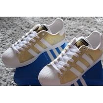 Tênis Sapatênis Adidas Superstar Feminino C/ Glitter