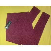 Pantalón Tipo Strech Corte Alto A La Moda Nuevo
