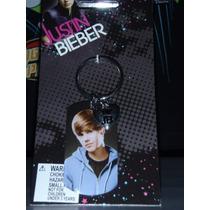 Justin Bieber Llavero Con Foto Encapsulado Corazon Metalico