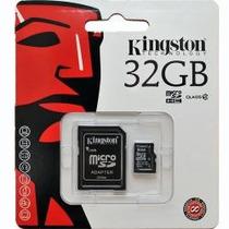 Memoria Micro Sd 32gb Marca Kingston Adaptador Sd Celulares