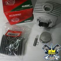 Kit Cilindro Wgk Mobilete 75cc Com Cabeçote