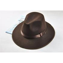 Sombrero Ala Ancha Vintage Estilo Indiana Jones Cafe
