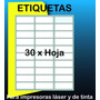 750 Etiquetas Autoadhesivas De 6.7 X 2.5 Cm Precortadas