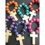 Denario Madera En Colores, Souvenirs Para Comunion/bautismo