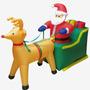 Adorno Navidad Trineo Con Renos Inflable