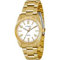 Relógio Lince Feminino Dourado Lrgl009s B2kx Original