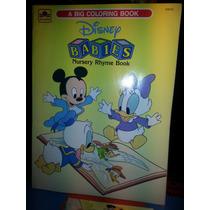 Antiga Revista Para Colorir Disney Babies Raro 1990 Limpo