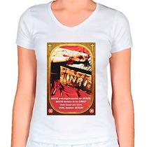 Camiseta Religiosa Baby Look Feminina Mão Ensanguentada De