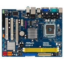Tarjeta Lga 775 Asrock G31 M-s+dual Core E5200+1gb Ram Ddr2